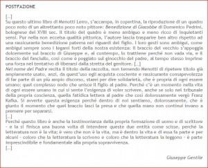 Giuseppe Gentile su Menotti Lerro
