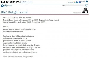 La Stampa Maurizio Cucchi