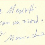 Mario Luzi dedica a Menotti Lerro