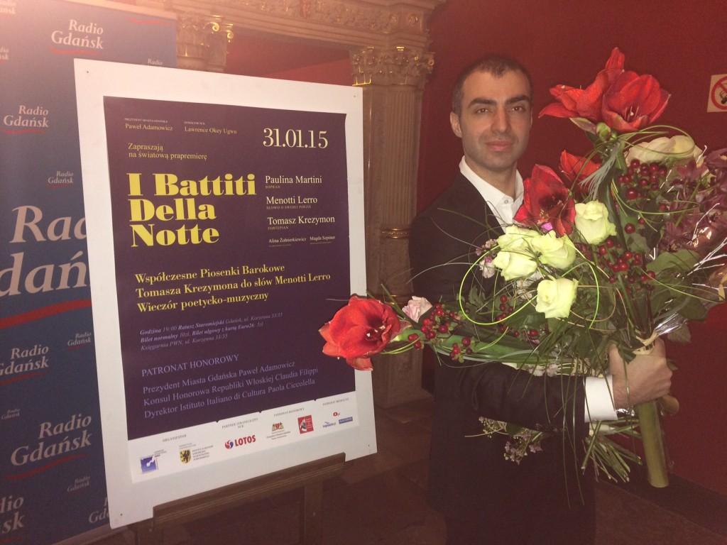menotti lerro with poster i battiti della notte